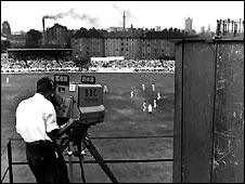 The BBC covers the Test Match between England and New Zealand at the Oval in 1949