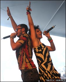 Kid Sister and J2K at the Coachella Music Festival, 2008