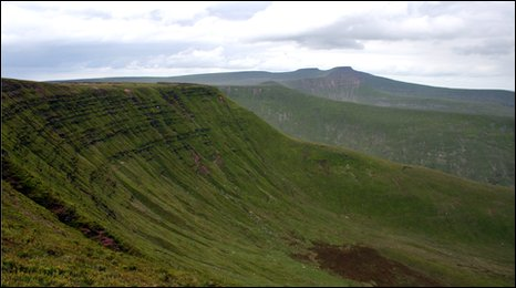 Generic image of the Brecon Beacons