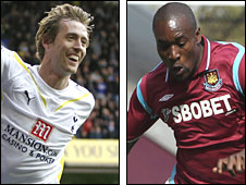 Peter Crouch and Carlton Cole