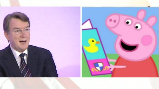 Peter Mandelson and Peppa Pig