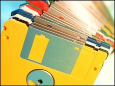 Stack of floppy disks (Eyewire)
