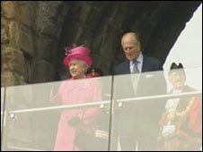 The Queen and the Duke of Edinburgh at Caernarfon Castle