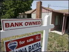 A repossessed home in the US