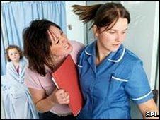 Patient arguing with a nurse