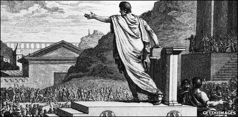 Gracchus addressing the crowd
