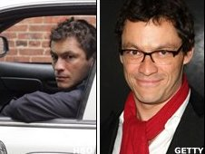Dominic West as the Wire's Baltimore cop Jimmy McNulty and as himself