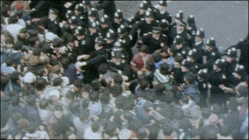 Archive images of riots