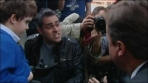 David Cameron, Jonathan Bartley and his son