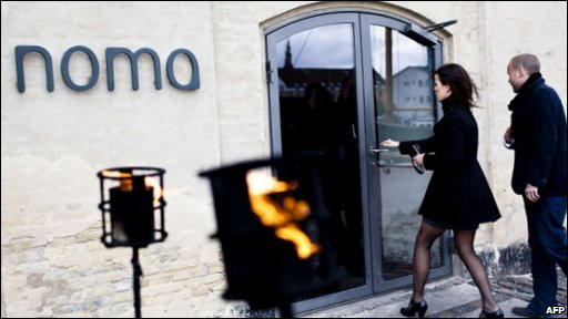 People entering the Noma restaurant in Denmark