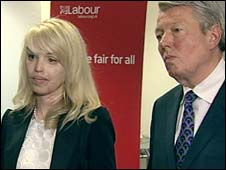 Katie Piper and Alan Johnson
