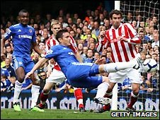 Chelsea v Stoke City in the Premier League