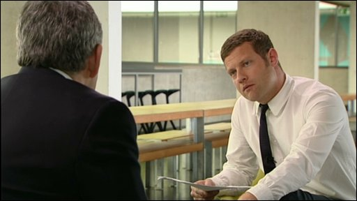 Gordon Brown and Dermot O'Leary