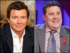 Rick Astley and Peter Kay