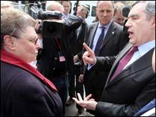 Gillian Duffy and Gordon Brown