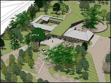 Artist's impression of the EACH Treehouse hospice