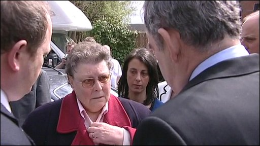 Gordon Brown and Gillian Duffy