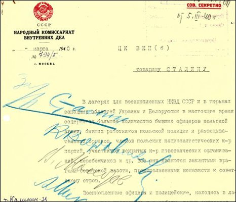 A grab of letter from Beria to Stalin