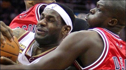 LeBron James and Luol Deng