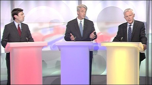 Health spokesmen Andrew Lansley, Andy Burnham and Norman Lamb