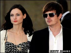 Sophie Ellis-Bextor and her husband, Richard Jones