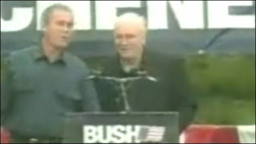 George Bush with Dick Cheney