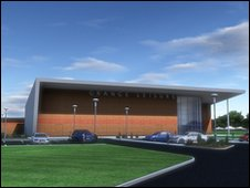 Artist's impression of new Desborough leisure centre
