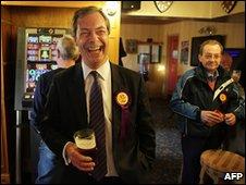 UKIP candidate Nigel Farage
