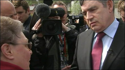 Gillian Duffy talks to Gordon Brown