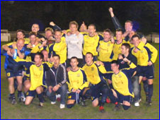 Celebrating Tadcaster players