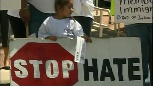 Protests at new immigration law