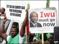 Anti-Iwu protesters