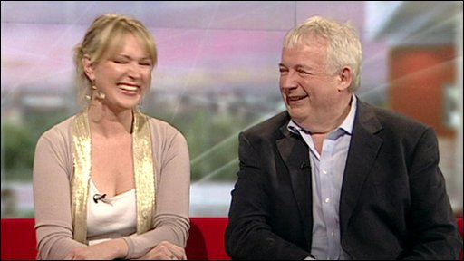 Judge Rachel Allen and Christopher Biggins.
