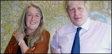 Mary Beard and Boris Johnson