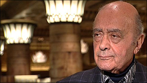 Fulham chairman Mohamed Al Fayed