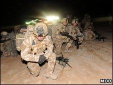 Troops in Afghanistan (MoD)