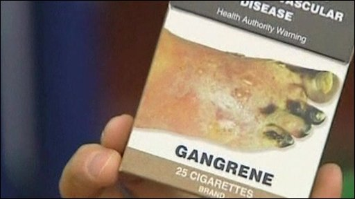 How a cigarette packet could look