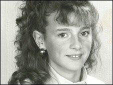 Gabby Logan aged 13