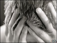 Distressed man. Pic: Joti/SPL