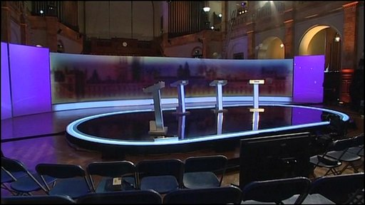 The set of the debate at Birmingham University