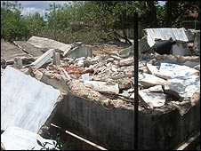 Prabhakaran's destroyed house