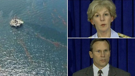 Oil spill plus BP's Doug Suttles and Rear Admiral Mary Landry