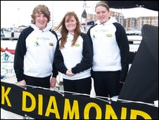 Crew members of the Black Diamond of Durham