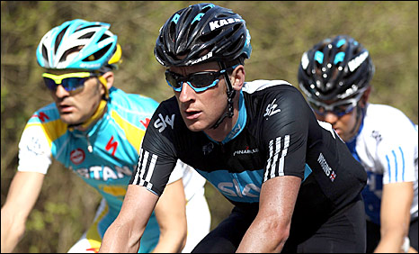 Bradley Wiggins in action