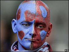 A Burnley fan looks dejected after their relegation is confirmed