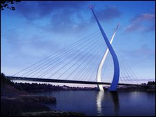 Artist's impression of new bridge - Pic: Sunderland City Council