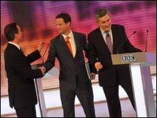 Leaders shake hands