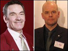 Peter Adams [left] of UKIP and Gary Raikes of BNP
