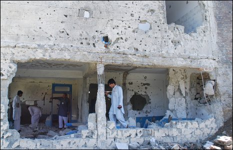 Damaged building in Swat