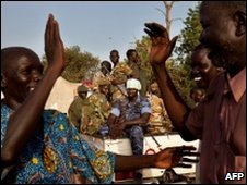 SPLM supporters celebrate election victory
